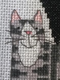 Cat stack cross stitch kits