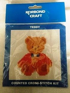 Teddy bear counted cross stitch kits foe children.