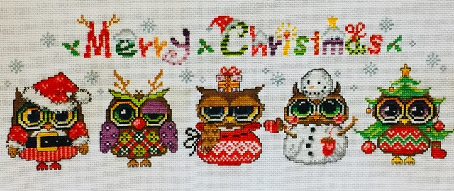 Yeah! Christmas owl project finished!
