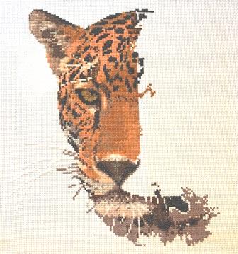 Graeme Ross big cat cross stitch pattern designs.