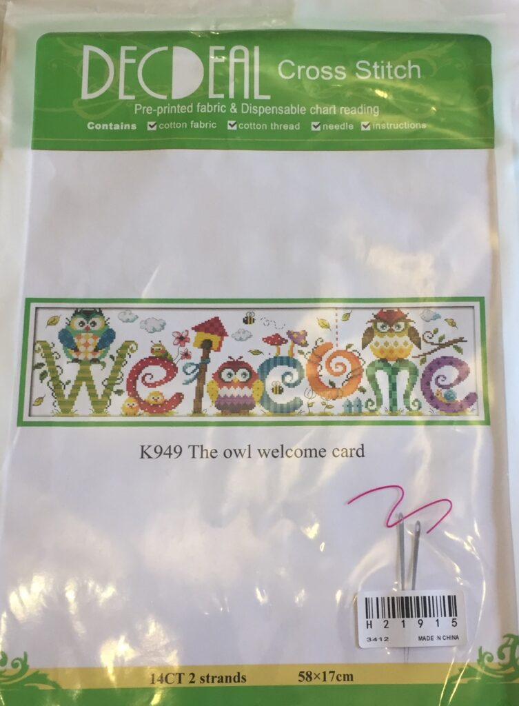 welcome owl front of the packet