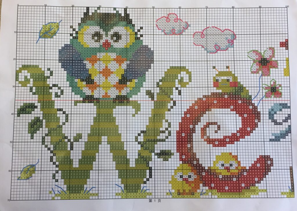 welcome owl paper copy of the stitching pattern