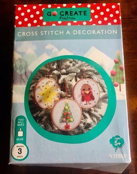 Christmas decorations cross-stitch kit