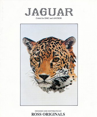Ross originals Jaguar cross stitch pattern.